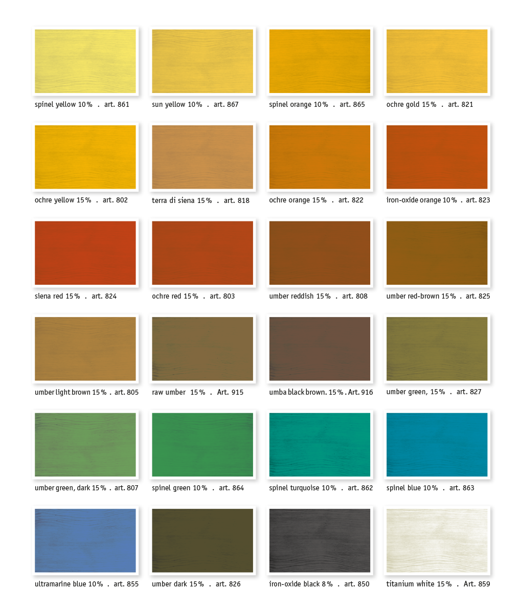 kreidezeit-naturfarben-colour-chart-pigments-in-oil